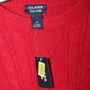 NWT Red Class Club Sweater